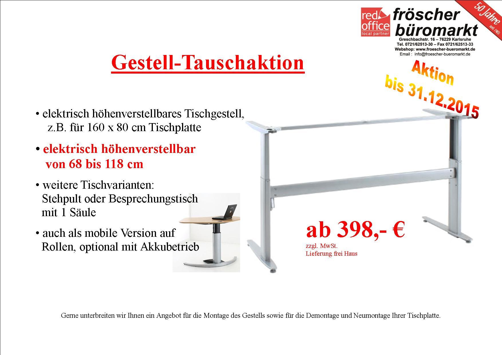 Stehsitz Tisch Angebot Fröscher Büromarkt Bürobedarf Und