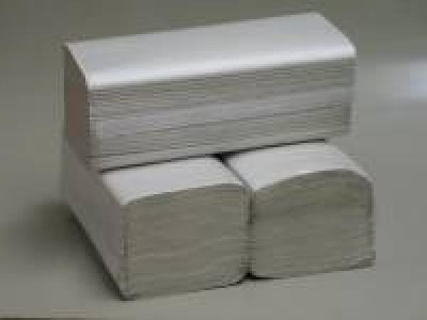 Falthandtücher 1-lagig hellgrau 100% Recyclingpapier geprägt 25x23cm Karton = 5.000 Blatt